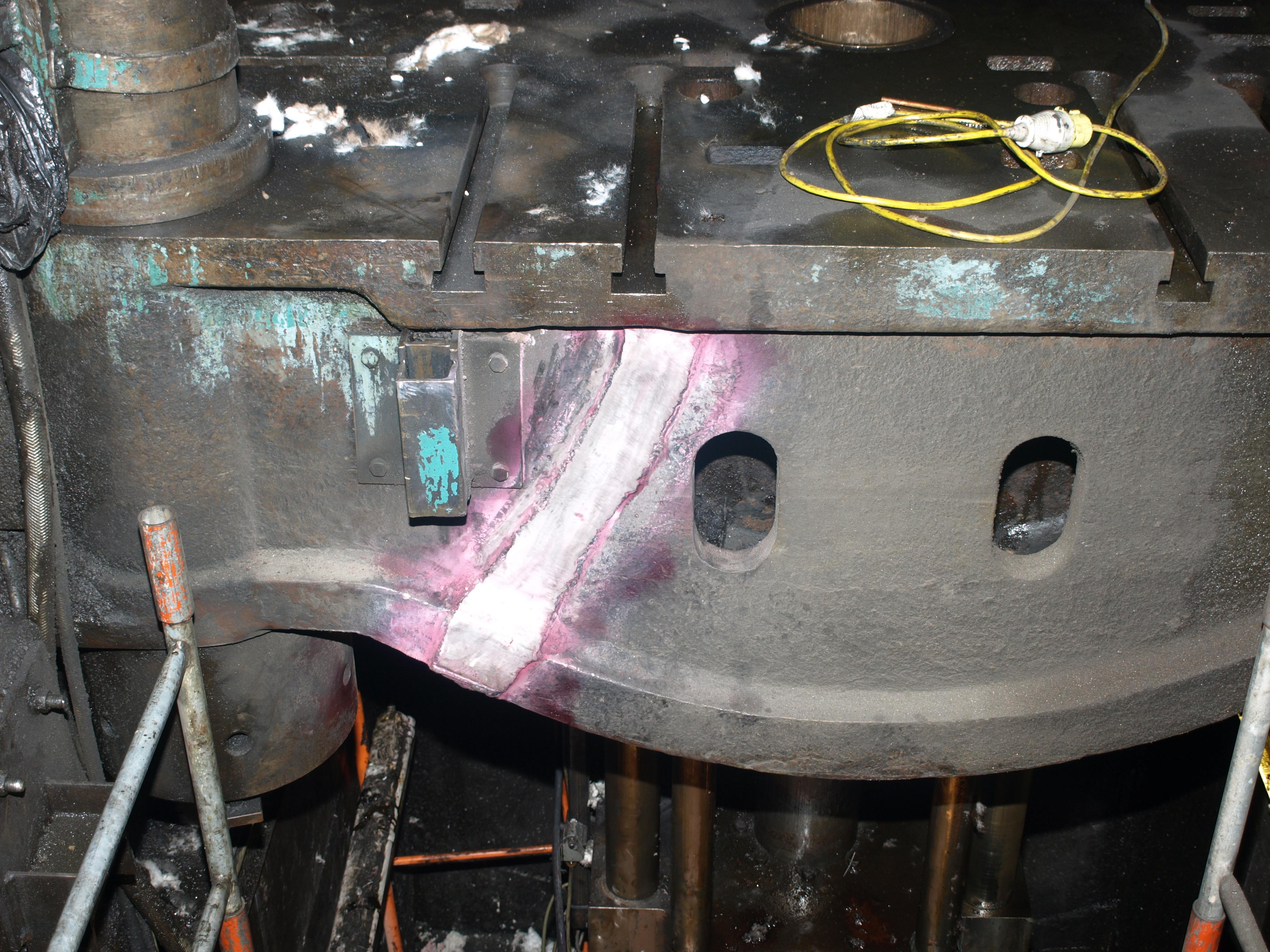 Cast Iron Welding Services Repair 2700 Tonne Press