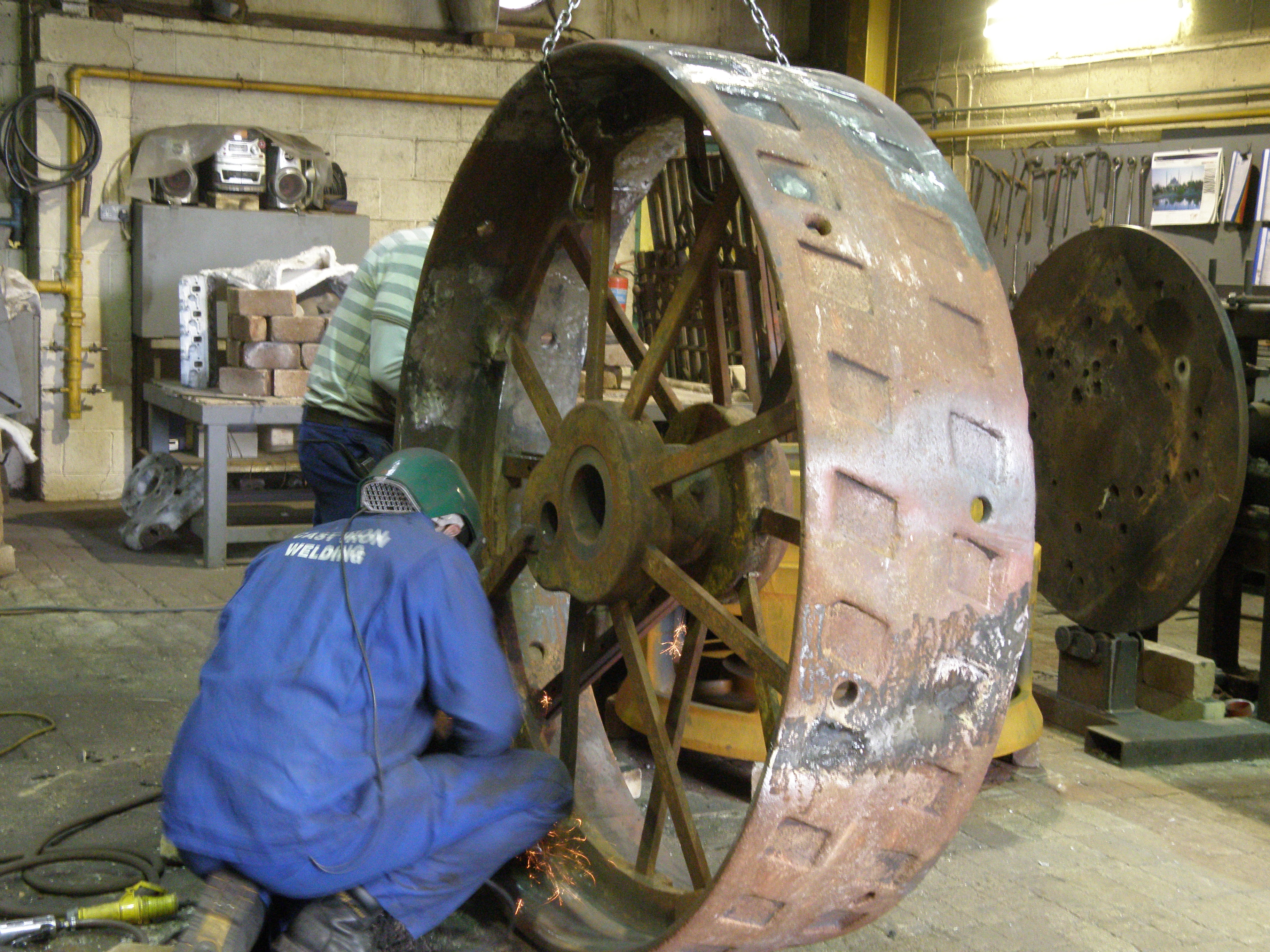 Cast Iron Welding Services Traction Engine Wheel Refurbishment