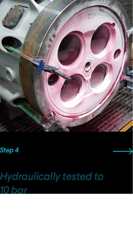 Hydraulically Tested to 10 bar
