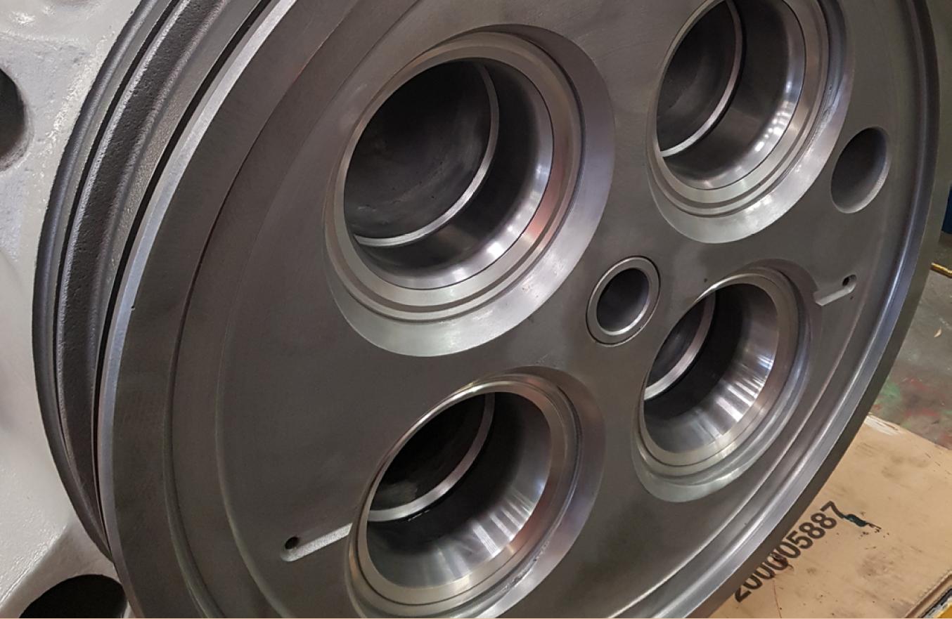 MAN Exhaust Valve Cylinder Head Cast Iron Welding Repair Services