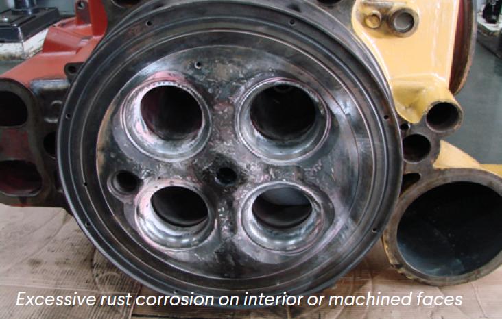 Rust Corrosion Machined Faces Mak Caterpillar Cylinder Heard Cast Iron Welding Repairs