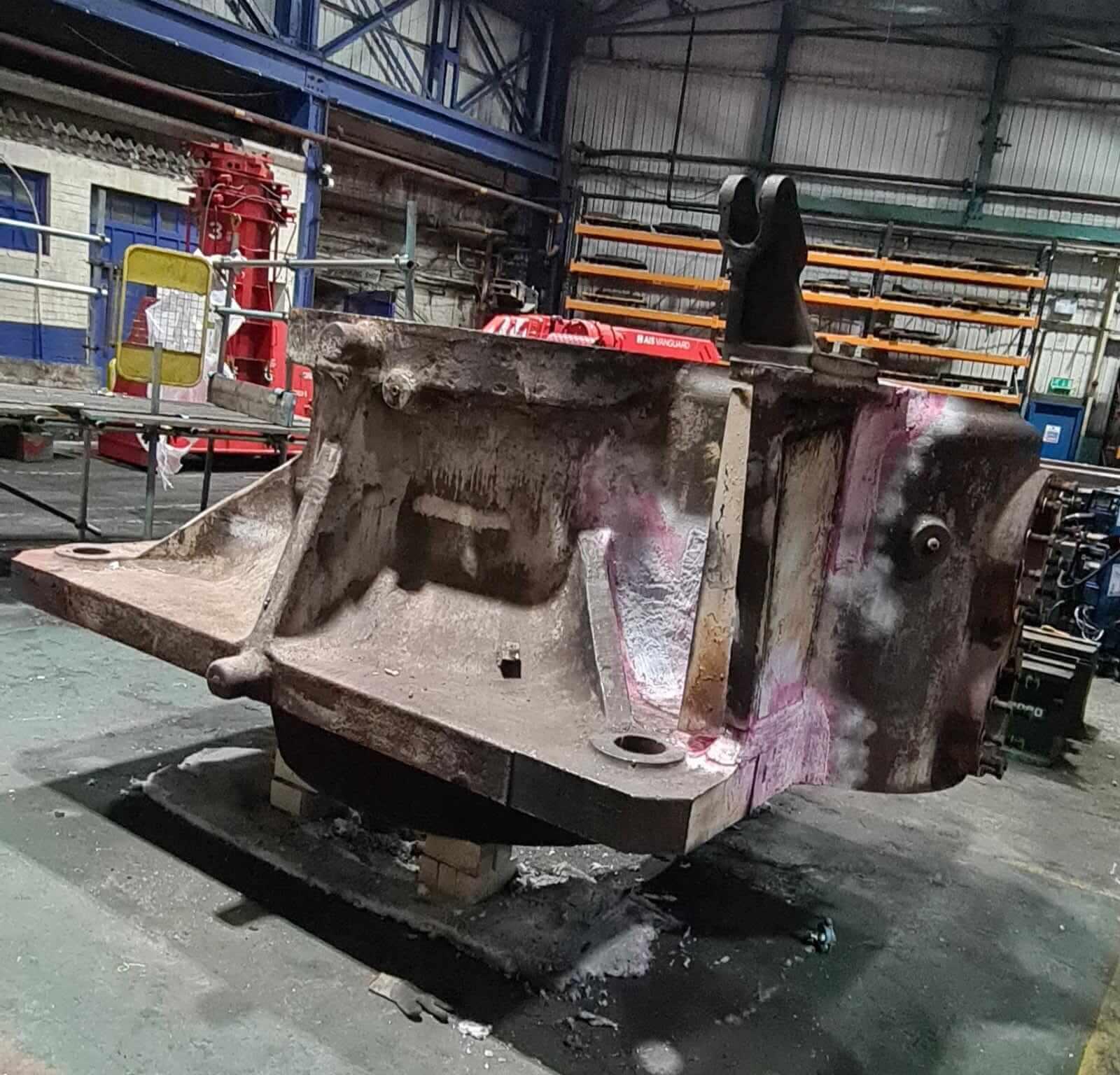 Industry steel casting welding project